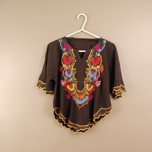 Huipil Embroidered Top